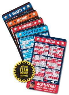 Pro Baseball Schedule Magnets-Image